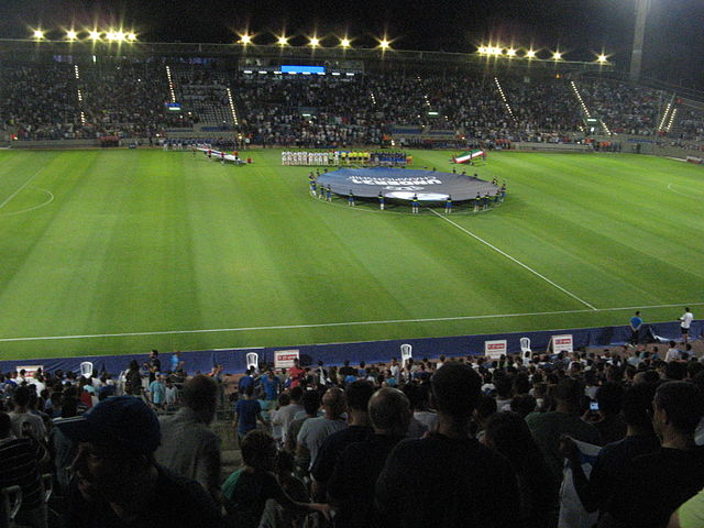 Teddy Stadium in Jerusalem before the U21 Euro game between Israel and Italy. Photo: Assaf Yekuel