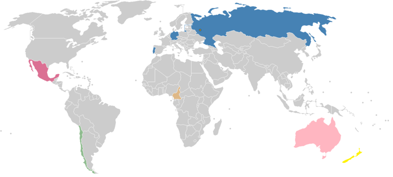 Confederations Cup participating ountries