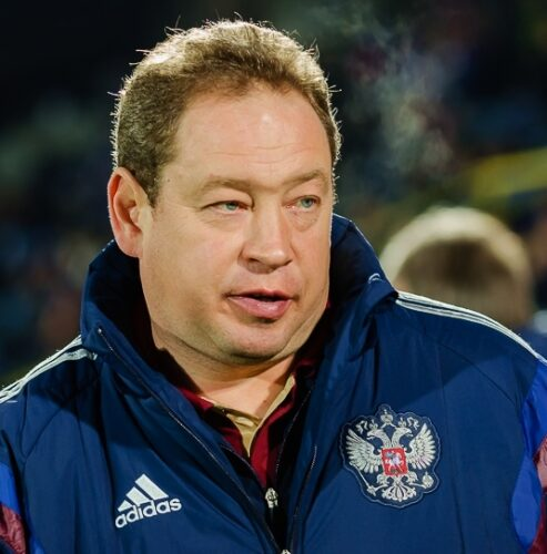 Leonid Slutsky when he was in charge of the Russian national team. Photo: Светлана Бекетова