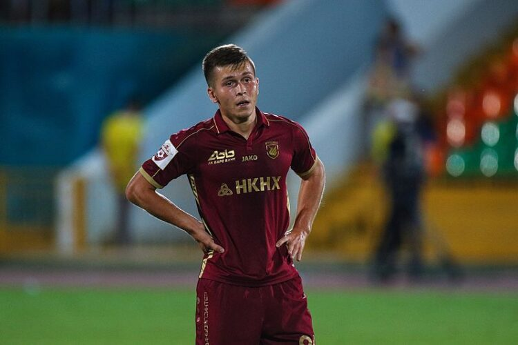 Rifat Zhemaletdinov during a game against Anzhi. Photo: Dzhalil Gubaydullin