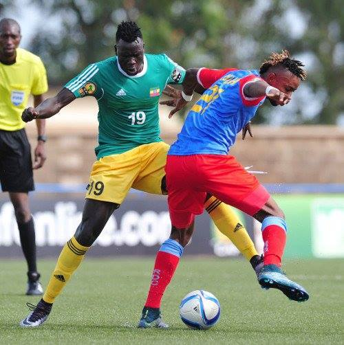 Gatoch Panom (left) in action for Ethiopia, Photo: TBM Sports